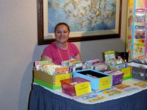 vendor melinda smiling sitting at a table